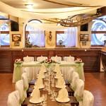Основной зал в ресторане клермонт